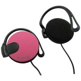 Pink 3.5mm 3.5 mm On-Ear Clip Sports Foam Headphones Earphones for Apple iPod