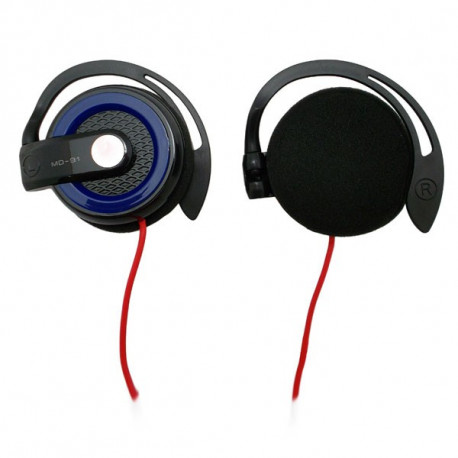 Blue 3.5mm On-Ear Y-Cord Clip Sports Foam Stereo Headphones for Apple iPod MP3