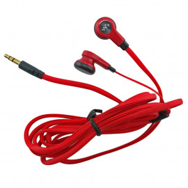 Red 3.5mm 2M 2 Meters Long Flat Cable Cord Tangle Free Earbuds Earphones Headset
