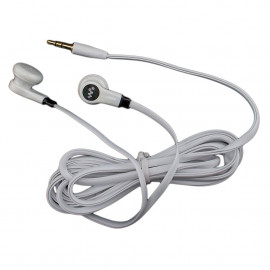 White 3.5mm 2M 2 Meters Long Flat Cable Tangle Free Earbuds Earphones Headset