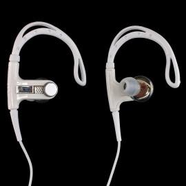 3.5mm In-Ear Clip Sports Stereo Hook Running Jogging Earhook Earbud Headphones[White]
