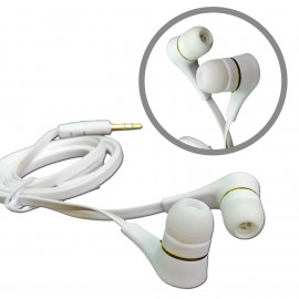 White 3.5mm Tangle Free Cable In-Ear Stereo Earbuds Earphone for Apple iPod MP3