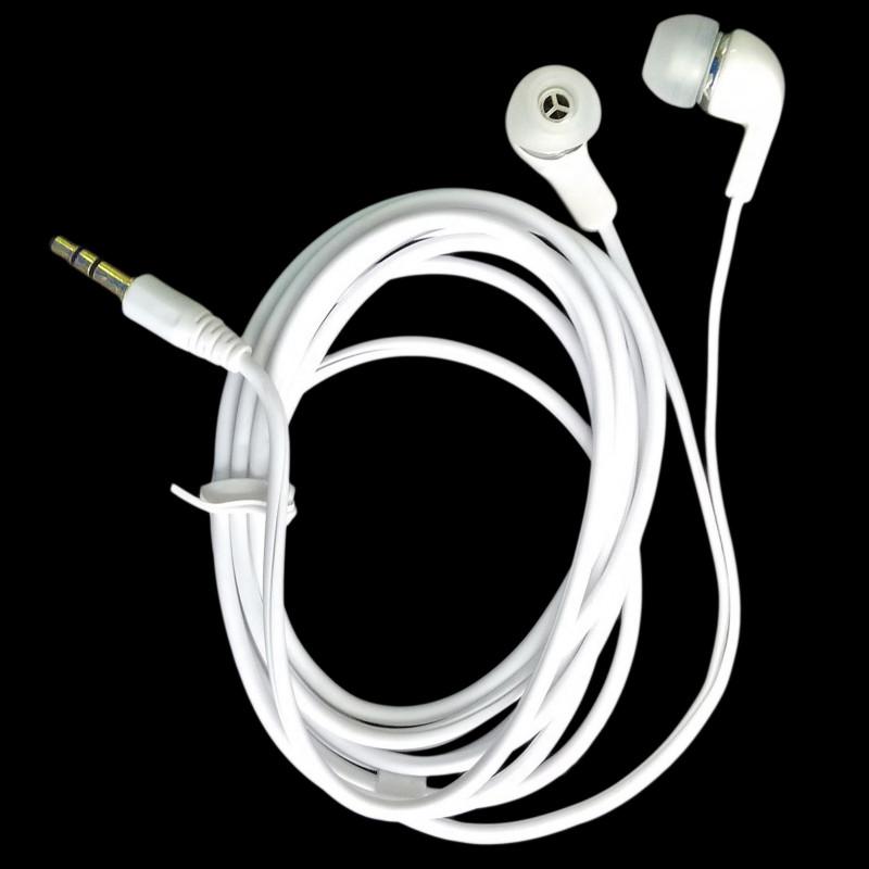 Earbuds black long - tv earphones with long cord