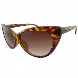 Women's Cheetah Classic Cat Eye Oversized Designer Fashion Shades Sunglasses