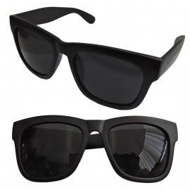 Black Blur Frame Women's Men's Wayfarer Flat Style Shades Designer Sunglasses
