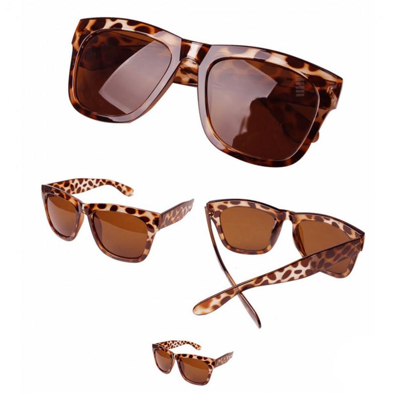 wayfarer women  Leopard Frame Brown Lens Women\u0027s Men\u0027s Wayfarer Designer Flat ...