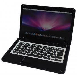 Black Metal Laptop MacBook 16:10 1/12 Scale Doll's House Dollhouse Miniature