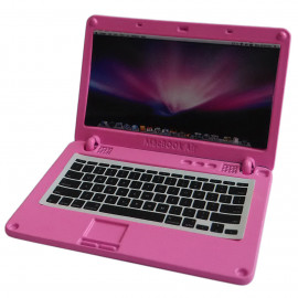 Pink Metal Laptop MacBook 16:10 1/12 Scale Doll's House Dollhouse Miniature