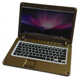 Golden Metal Laptop MacBook 16:10 1/12 Scale Doll's House Dollhouse Miniature