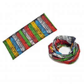 Tibet Lungta Mutli-Color Adult Women's Men's Cycling Hiking Scarf Bandana Bandanna Gear