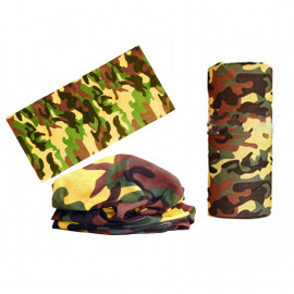 Yellow Brown Camouflage Adult Women's Men's Cycling Hiking Scarf Bandana Bandanna Gear