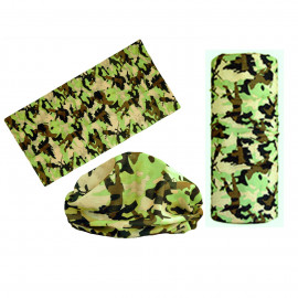 Brown Green Camouflage Adult Women's Men's Cycling Hiking Scarf Bandana Bandanna Gear