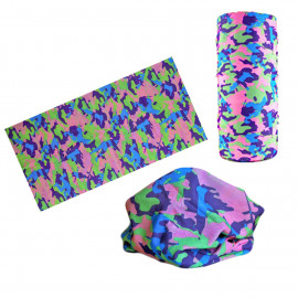 Pink Purple Green Camouflage Adult Women's Men's Cycling Hiking Scarf Bandana Bandanna Gear
