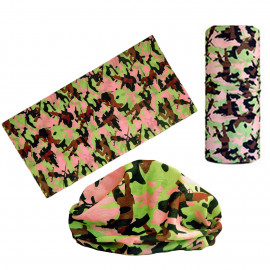 Pink Brown Gray Camouflage Adult Women's Men's Cycling Hiking Scarf Bandana Bandanna Gear
