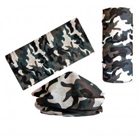 Gray Camouflage Adult Women's Men's Cycling Hiking Scarf Bandana Bandanna Gear