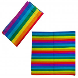 Rainbow Stripes Adult Women's Men's Cycling Hiking Scarf Bandana Bandanna Gear