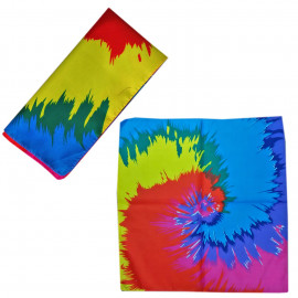 Rainbow Painting Spiral Adult Women's Men's Cycling Hiking Scarf Bandana Bandanna Gear