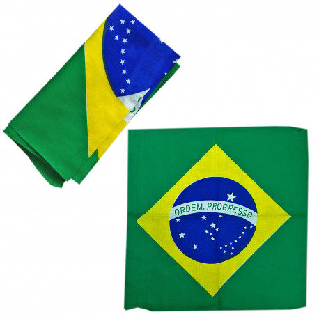 Big Brazil Flag Adult Women's Men's Cycling Hiking Scarf Bandana Bandanna Gear