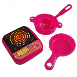 Electric Cooking Plate Pan Utensil 1/6 Scale for Barbie Doll's House Miniature