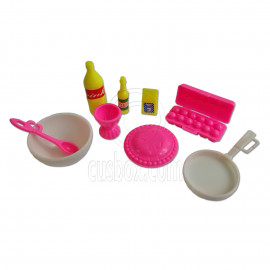 Set Kitchen Utensil Egg Container Yogurt Cup Drinks 1:6 Scale for Barbie Dolls