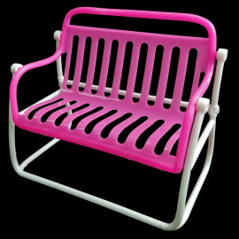"Garden Outdoor 2-Seater Bench Chair 1:6 Scale for 12"" Dolls Furniture"