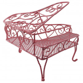 Pink Metal Wire Modern Piano 1/12 Doll's House Dollhouse Furniture Miniature