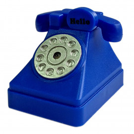 Blue Rotary Telephone for Barbie Monster High Doll's House Miniature Key Ring