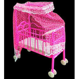 Nursery Baby Cradle Bed Cot Car 1/6 Scale Kelly Doll's House Dollhouse Furniture