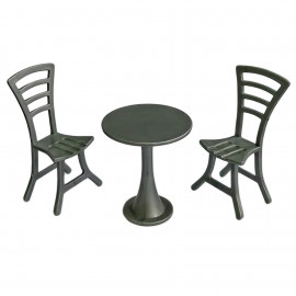 Outdoor Garden Tea Coffee Table Chairs Set 1/12 Doll's House Dollhouse Furniture