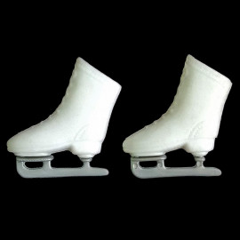 White Ice Skating Shoes Roller Skate 1/6 Scale Barbie Doll's House Miniature
