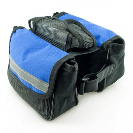Blue Cycling Bike Bicycle Front Frame Pannier Tube Bag