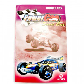 3D Puzzle Jigsaw Riddle Sand Racing Car DIY Model Card