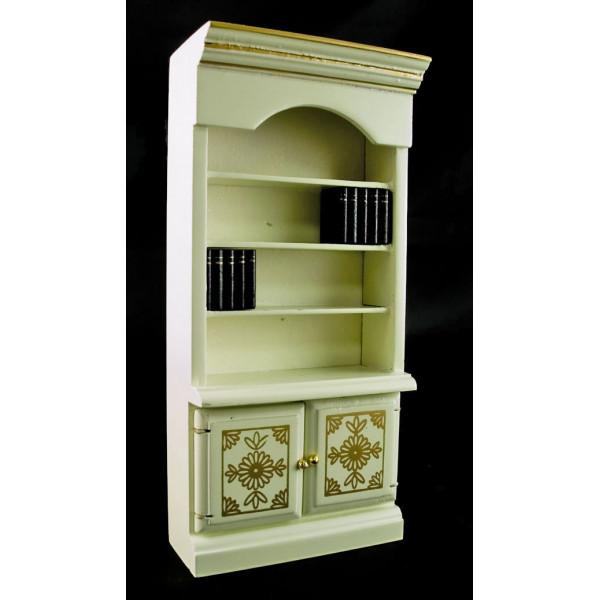 ... Room Furnitures > White Victorian Wooden BookShelf Dollhouse Furniture