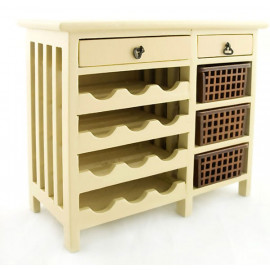 Kitchen Wine Baltic Cabinet Drawer Dollhouse Furniture