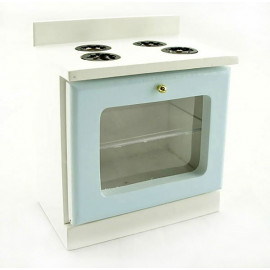 Blue Wood Kitchen Stove Oven 1:12 Dollhouse Furniture