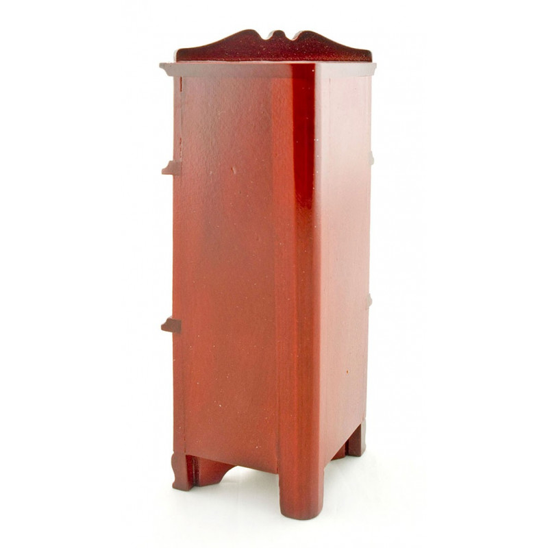 Marvelous Red Wood Triangle Corner Cabinet Dollhouse Furniture