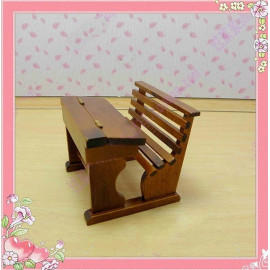 Mahogany Chair Table Drawer Combo Dollhouse Furniture