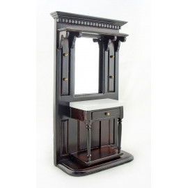 Dark Walnut Victorian Hall Stand Dollhouse Furniture