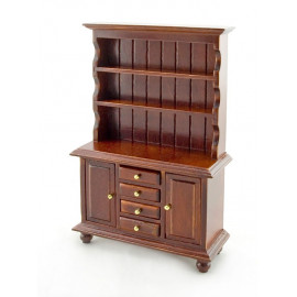 Kitchen Walnut Cupboard Cabinet Dollhouse Furniture