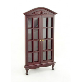 Mahogany Triangle Corner Cabinet Dollhouse Furniture
