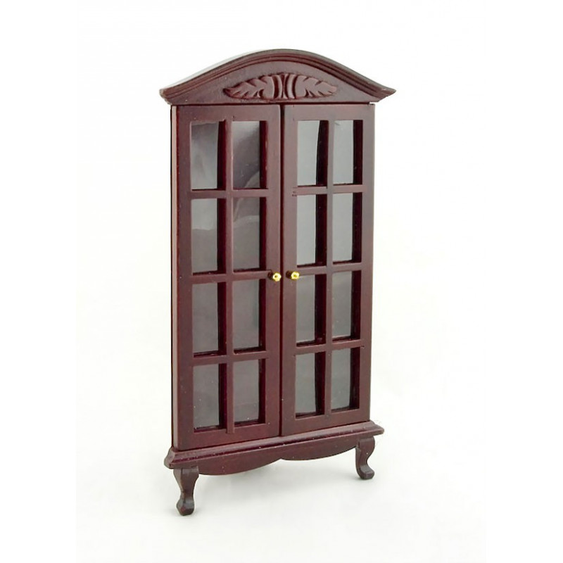 Lovely Mahogany Triangle Corner Cabinet Dollhouse Furniture