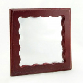 Mahogany Bathroom Wood Wall Mirror Dollhouse Furniture