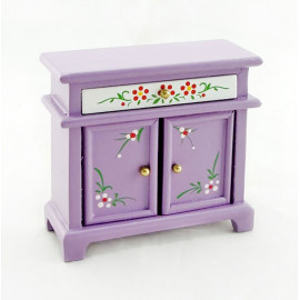 Purple Nursery Chest Drawer Dresser Dollhouse Furniture