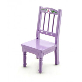 Purple Nursery Single Chair Stool Dollhouse Furniture