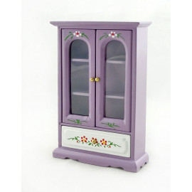 Purple Nursery Armoire Door Cabinet Dollhouse Furniture