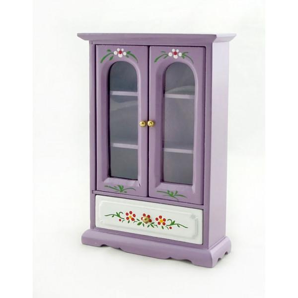 Purple Nursery Armoire Door Cabinet Dollhouse Furniture