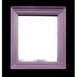 Purple Nursery Framed Wall Mirror Dollhouse Furniture