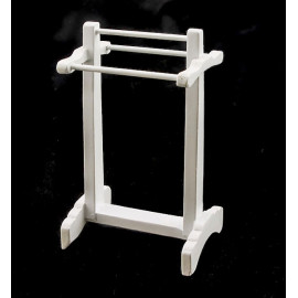 Bathroom White Towel Stand Hanger Dollhouse Furniture