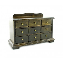 Olive Wood Display Cabinet Drawers Dollhouse Furniture