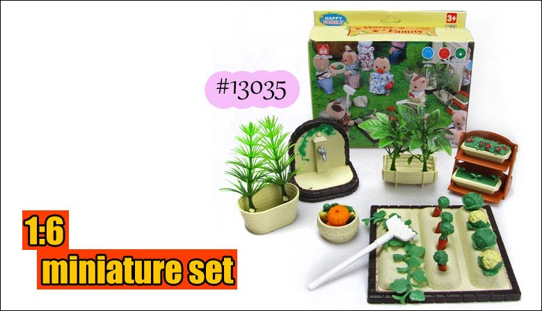 #13035 1:6 Dollhouse Miniatures for Sylvanian Families